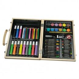 Set desen in cutie de lemn - 113401, Brown