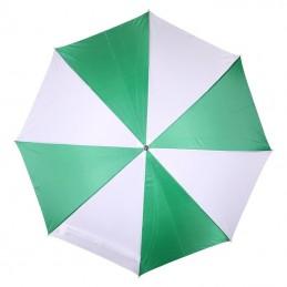 Umbrela bicolora maner lemn drept - 508509, Green