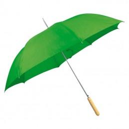 Umbrela cu maner lemn drept - 508609, Green