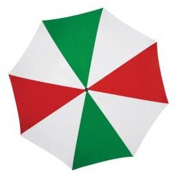 Umbrela cu maner lemn curbat - 513159, Green/red