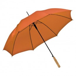 Umbrela cu maner lemn drept - 508610, Orange