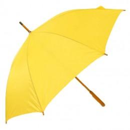 Umbrela cu maner lemn curbat - 513108, Yellow