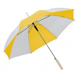 Umbrela bicolora maner lemn drept - 508508, Yellow
