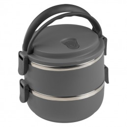 Caserola lunch 2 compartimente 500 ml - 093177, Anthracite