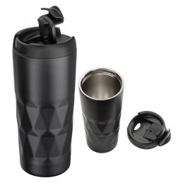 cana termica metalica cu capac 500 ml  - 048203, black