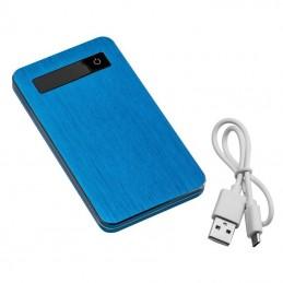 Powerbank 4000 mAh carcasa metal - 033904, Blue
