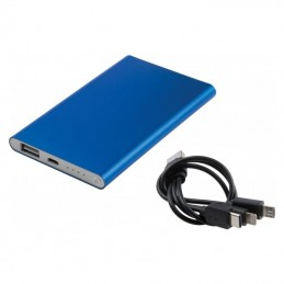Powerbank 4000 mAh carcasa metal - 082504, Blue