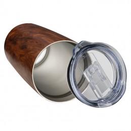 cana cupa cu aspect de lemn 550 ml - 156801, BROWN