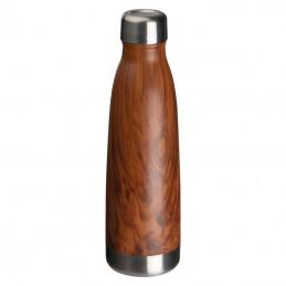 Sticla 500 ml cu aspect de lemn - 158201, BROWN