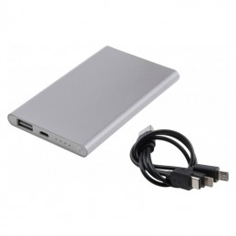 Powerbank 4000 mAh carcasa metal - 082507, Grey