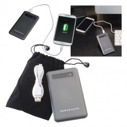Powerbank 4000 mAh carcasa metal - 351407, Grey