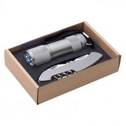 Set briceag si lanterna in etu carton - 337207, Grey
