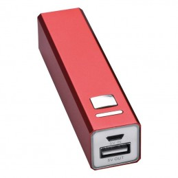 Powerbank 2200 mAh Port Hope metalic - 302905, Red