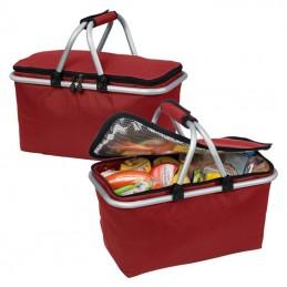 Cos picnic cu rama metalica - 005905, Red
