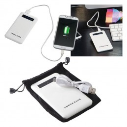 Powerbank 4000 mAh carcasa metal - 351406, White