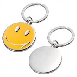 Breloc metal cu Smile - 347408, Yellow