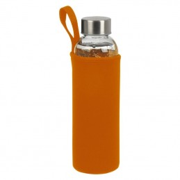 Bidon 500 ml in husa neopren - 084210, ORANGE