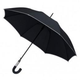 Umbrela maner plastic curbat in 2 tonuri culoare - 186903, black