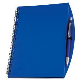 Carnetel A5 cu spira si pix liniat coperti plastic - 092204, Blue