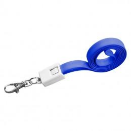 Lanyard plastic cu cablu de date - 063904, Blue
