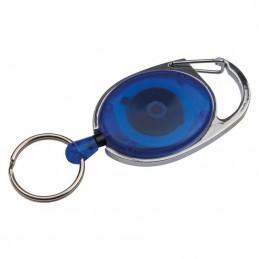 Pass holder extensibil cu carabina  - 117104, BLUE