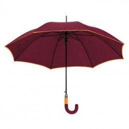 Umbrela maner plastic curbat in 2 tonuri culoare - 186902, Burgundy
