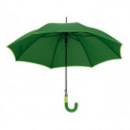 Umbrela maner plastic curbat in 2 tonuri culoare - 186909, Green
