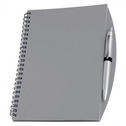 Carnetel A5 cu spira si pix liniat coperti plastic - 092207, Grey