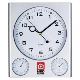 Ceas perete cu termometru si umidometru - 121307, Grey