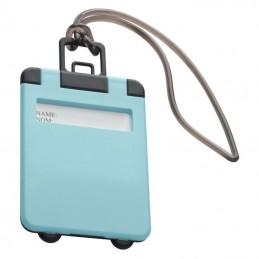 Eticheta pentru bagaj cu capac colorat - 791824, Light blue