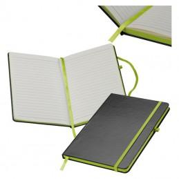 Carnetel A5 160 pagini liniate coperti PVC - 037929, Light green