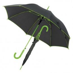 Umbrela cu maner plastic curbat cu dunga colorata - 347229, Light green