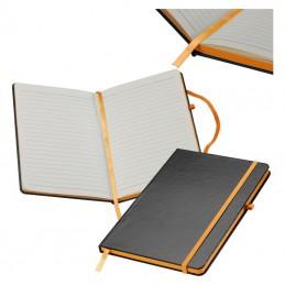 Carnetel A5 160 pagini liniate coperti PVC - 037910, Orange
