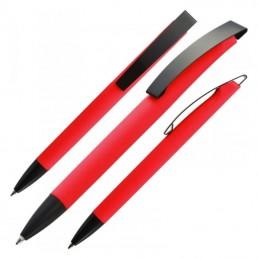 Pix plastic cu clips metalic - 009905, Red