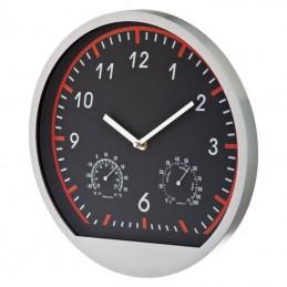 Ceas perete cu termometru si umidometru - 306405, Red