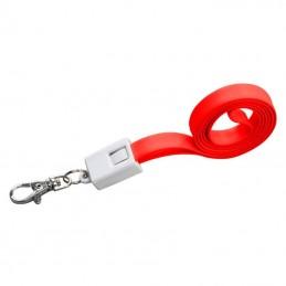 Lanyard plastic cu cablu de date - 063905, Red