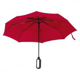 Umbrela pliabila cu maner pentru logo - 088505, Red