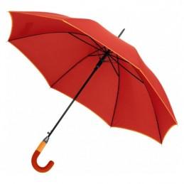 Umbrela maner plastic curbat in 2 tonuri culoare - 186905, Red