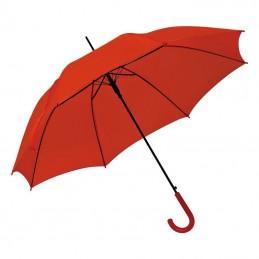 Umbrela cu maner plastic curbat - 520005, Red