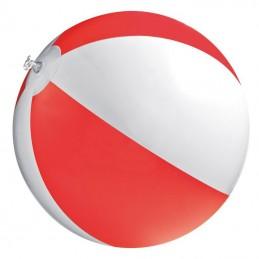 Minge plaja bicolora  panel 40 cm diametru 26 cm - 105105, Red