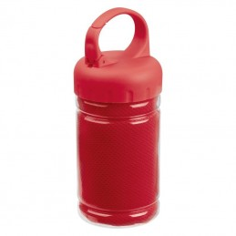 Prosop microfibra in bidon plastic - 088405, Red