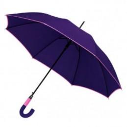 Umbrela maner plastic curbat in 2 tonuri culoare - 186912, Violet