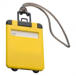 Eticheta pentru bagaj cu capac colorat - 791808, Yellow