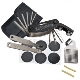 Set kit reparatii bicicleta - 800103, Black