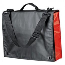 Geanta / Servieta neagra cu parti colorate - 489805, Red