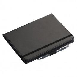 Carnetel A5 cu 4 compartimente card liniat PU - 072803, Black