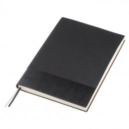 Carnetel A5 cu 200 pagini matematica coperta PU - 143903, BLACK