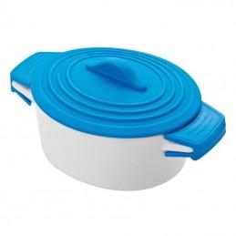 Castron ceramic cu capac silicon colorat - 889404, Blue
