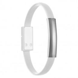 Bratara cablu transfer date sau incarcare telefon  - 039806, White