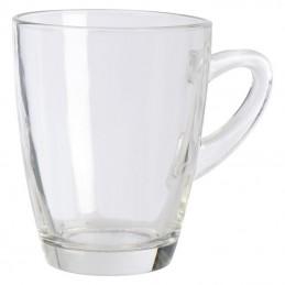Cana din sticla transparenta 300 ml - 094866, White